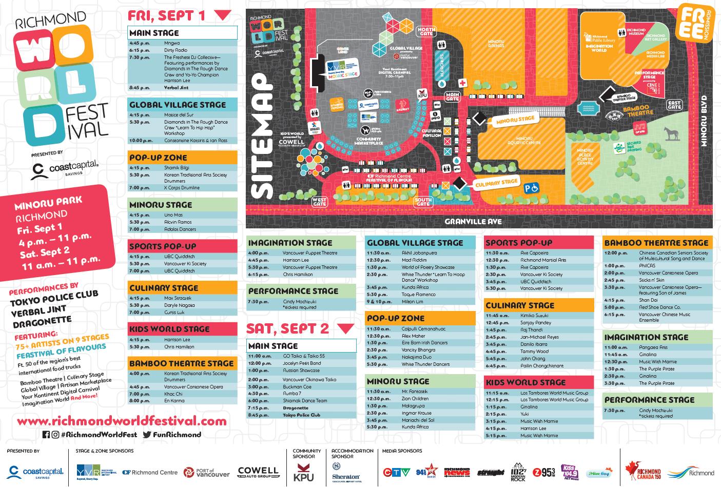 RWF2016 Site Map