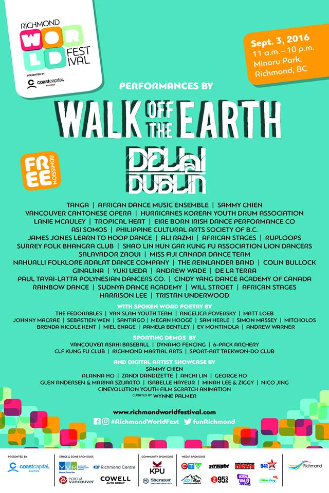 RWF 2016 - Line Up Poster